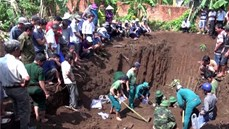 Phát hiện, quy tập 13 hài cốt liệt sĩ kèm di vật tại xã Bàu Cạn, huyện Long Thành, tỉnh Đồng Nai