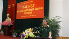 Bộ Quốc phòng gặp mặt Đoàn đại biểu Người có công với cách mạng tỉnh Trà Vinh