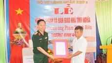 Bộ Tư lệnh Quân khu 3 tổ chức Lễ khánh thành và bàn giao nhà tình nghĩa tặng gia đình chính sách trên địa bàn huyện Giao Thủy, tỉnh Nam Định