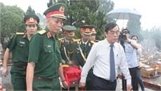 Tỉnh Quảng Trị tổ chức Lễ truy điệu và an táng 36 hài cốt liệt sĩ