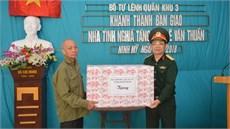 Bộ Tư lệnh Quân khu 3 khánh thành và bàn giao nhà tình nghĩa tặng đối tượng chính sách trên địa bàn đóng quân