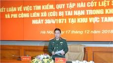 Ban Chỉ đạo quốc gia 515 tổ chức Hội nghị kết luận về việc tìm kiếm, quy tập hài cốt liệt sĩ phi công Việt Nam và phi công Liên Xô (cũ) bị tai nạn trong lúc bay huấn luyện ngày 30/4/1971 tại khu vực Tam Đảo
