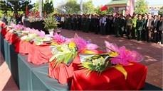 Tỉnh Gia Lai tổ chức Lễ truy điệu và an táng 45 hài cốt liệt sĩ hy sinh trong cuộc kháng chiến chống Mỹ cứu nước