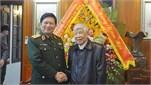 Đồng chí Đại tướng Ngô Xuân Lịch thăm, chúc Tết các đồng chí nguyên lãnh đạo Đảng, Bộ Quốc phòng