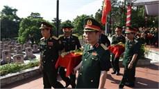 Các địa phương trên địa bàn Quân khu 4 tổ chức Lễ truy điệu và an táng hài cốt các liệt sĩ được tìm kiếm, quy tập tại Lào mùa khô 2018 - 2019