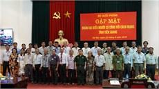 Bộ Quốc phòng gặp mặt Đoàn đại  biểu Người có  công với cách mạng tỉnh Tiền Giang