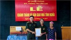 Bộ Tư lệnh Binh chủng Thông tin liên lạc tặng nhà tình nghĩa gia đình chính sách trên địa bàn huyện Nam Đàn, tỉnh Nghệ An