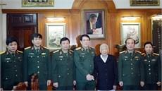 Đại tướng Lương Cường thăm nguyên Tổng Bí thư Lê Khả Phiêu  và các đồng chí nguyên Chủ nhiệm Tổng cục Chính trị