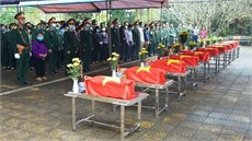 Tỉnh Hà Giang tổ chức Lễ truy điệu và an táng 10 hài cốt liệt sĩ