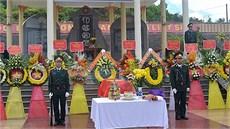 Huyện Phước Sơn (tỉnh Quảng Nam) tổ chức Lễ truy điệu và an táng 17 hài cốt liệt sĩ