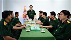 Trung tướng Nguyễn Trọng Nghĩa thăm, chúc Tết tại Cần Thơ