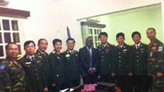 Đoàn công tác Bộ Quốc phòng khảo sát chế độ chính sách và công tác bảo đảm cho lực lượng tham gia hoạt động gìn giữ hoà bình Liên hợp quốc tại Cộng hoà Trung Phi