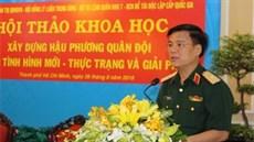 Tăng cường sự lãnh đạo của Đảng, hiệu lực quản lý của Nhà nước đối với xây dựng hậu phương Quân đội trong tình hình mới