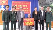 Bộ CHQS thành phố Hải Phòng khởi công xây dựng 32 nhà tình nghĩa