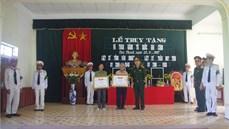 """Bộ Chỉ huy quân sự tỉnh Nam Định tổ chức truy tặng, trao Bằng """"Tổ quốc ghi công"""" và trao quyết định, cấp giấy chứng nhận thương binh"""