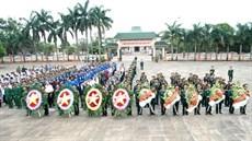 Đoàn quân sự cấp cao Quân khu 1, Quân đội Hoàng gia Campuchia tổ chức Lễ viếng các anh hùng liệt sĩ tại Nghĩa trang liệt sĩ huyện Đức Cơ, tỉnh Gia Lai