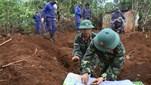 Đội tìm kiếm, quy tập mộ liệt sĩ thuộc Quân đoàn 3 tổ chức tìm kiếm và quy tập được 4 hài cốt liệt sĩ tại tỉnh Gia Lai.