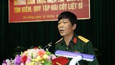 BCĐ quốc gia 1237 phối hợp tổ chức Hội nghị tập huấn hướng dẫn lập bản đồ, tìm kiếm, quy tập hài cốt liệt sĩ tại Quân khu 5