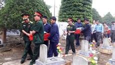 Lễ truy điệu và an táng 09 hài cốt liệt sĩ tại Nghĩa trang liệt sĩ huyện Hướng Hóa (tỉnh Quảng Trị)