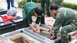 Đội tìm kiếm, quy tập hài cốt liệt sĩ thuộc Quân đoàn 3 tổ chức bàn giao hài cốt liệt sĩ về Nghĩa trang liệt sĩ tỉnh Gia Lai