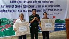 Bộ Chỉ huy BĐBP tỉnh Quảng Trị tổ chức khám bệnh, cấp thuốc miễn phí và tặng quà đối tượng chính sách huyện Hải Lăng