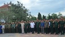 Tỉnh Quảng Trị tổ chức Lễ truy điệu và an táng 12 hài cốt liệt sĩ tại Nghĩa trang liệt sĩ huyện Cam Lộ
