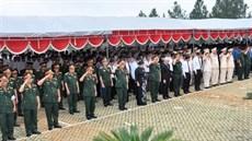 Tỉnh Bình Phước tổ chức Lễ truy điệu và an táng 35 hài cốt liệt sĩ được tìm kiếm, quy tập tại Campuchia trong mùa khô 2017 - 2018