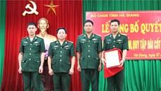 Lễ công bố Quyết định thành lập Đội tìm kiếm, quy tập hài cốt liệt sĩ thuộc Bộ CHQS tỉnh Hà Giang